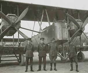 Vimy aircraft and crew